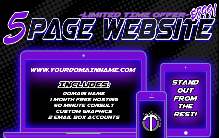 5 Page Website Special 899