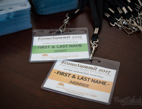 Custom ID Badge Design for Las Vegas Investment Club's EconoSummit