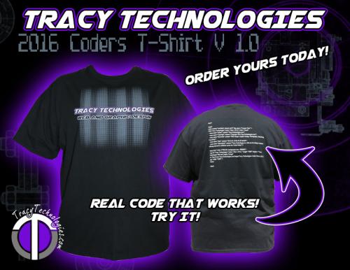 Tracy Technologies Coders Tshirt