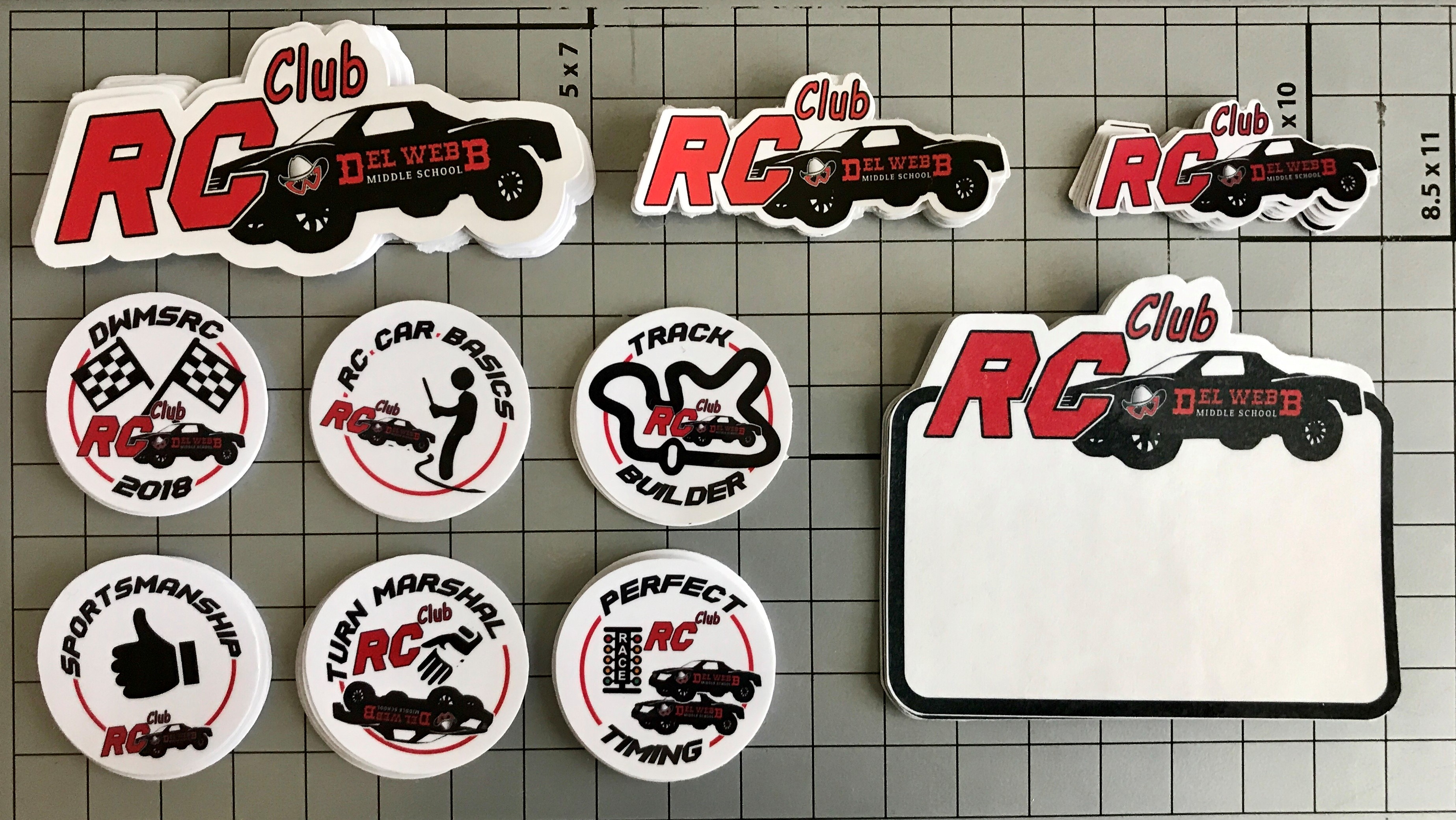Graphic design services custom 2018 del webb middle school rc club stickers